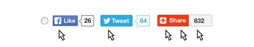 ソーシャルメディアのボタン