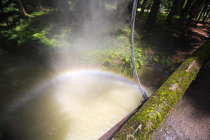 Arc ZEROで発生した虹