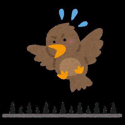 電線の鳥対策